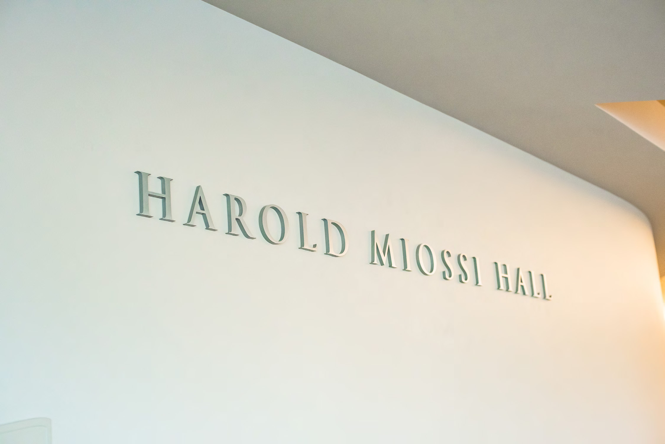Harold Miossi Hall Sign