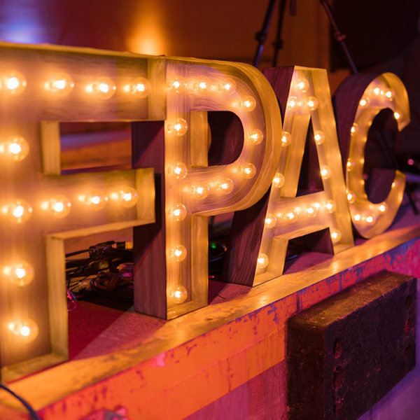 FPAC light up sign